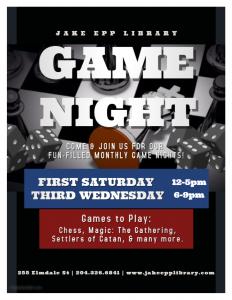 Game Night @ Jake Epp Library