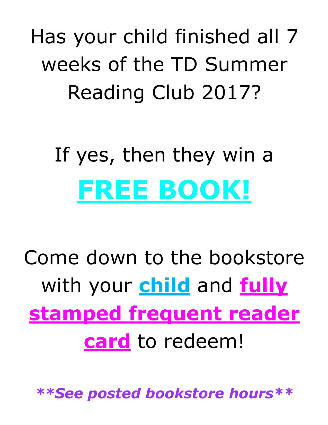 Book Store Annoucement Poster 2017