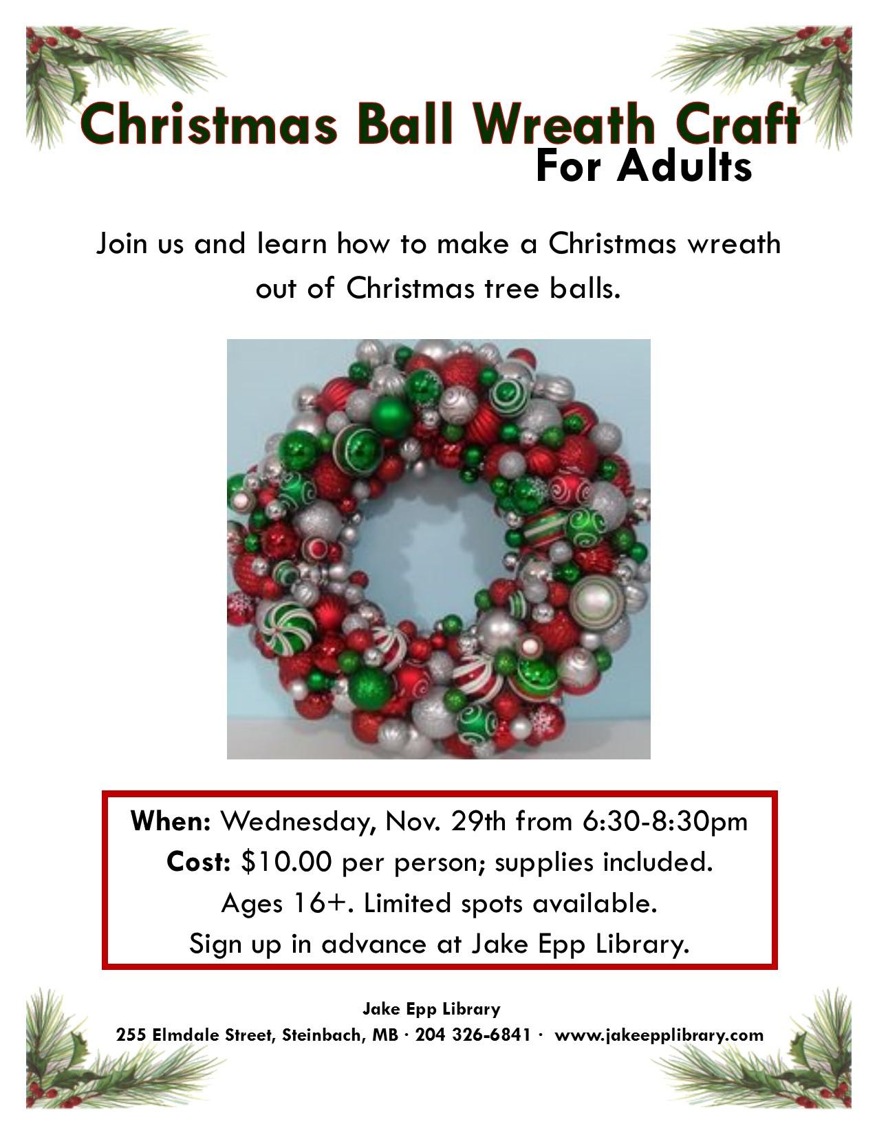 Christmas wreath poster 2017