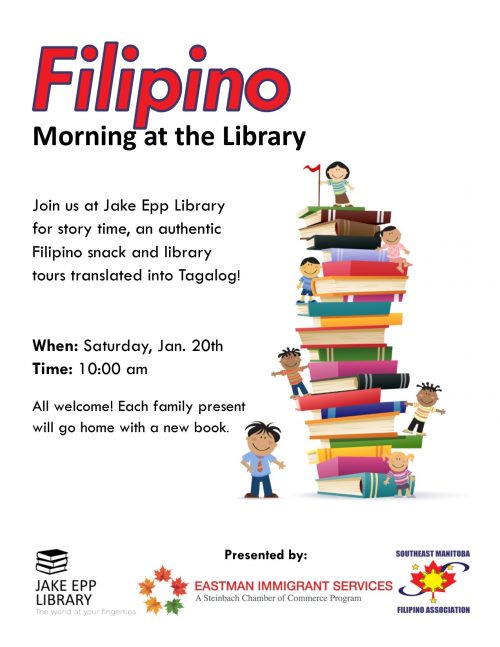 Filipino Morning at the Library poster