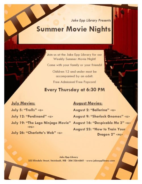 Summer Movie Nights 2018