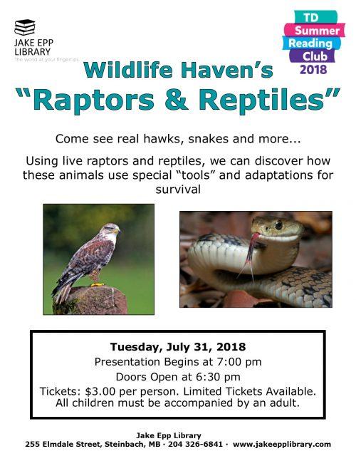 raptors reptiles poster 2018