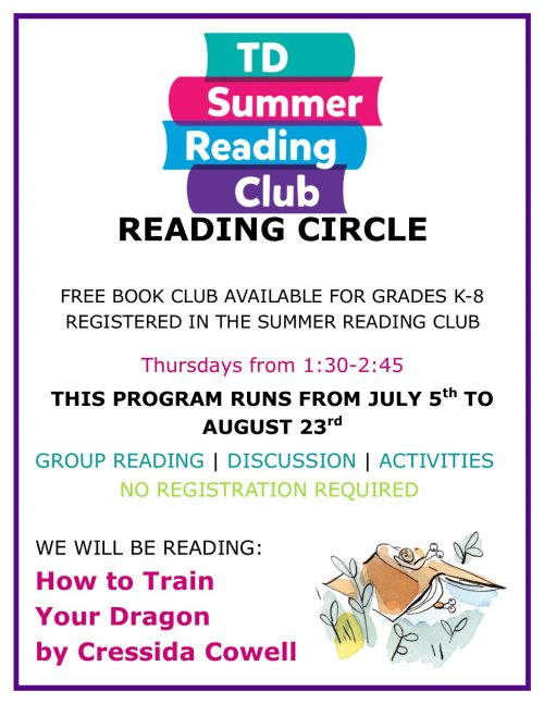 Reading Circle Info Poster 2018