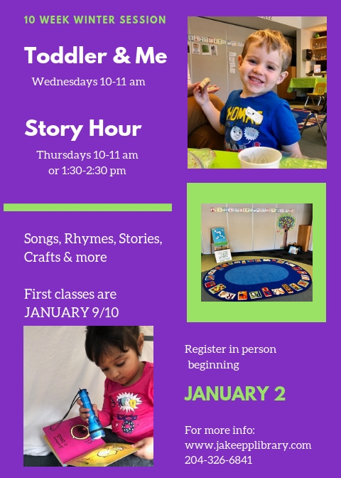 Toddler Story Hour Winter 2019 Poster