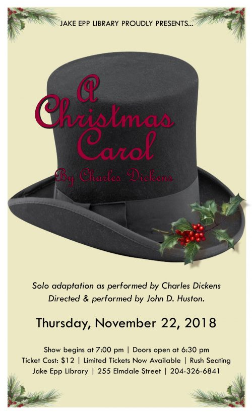 Christmas Carol Poster 2018