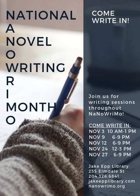 NaNo Come Write In 2018 Poster
