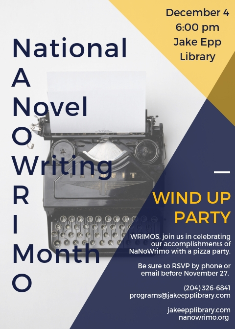 NaNoWriMo Wind up party November 2018